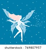 shining blue winter fairy with... | Shutterstock .eps vector #769807957