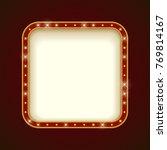 blank illuminated rounded... | Shutterstock .eps vector #769814167