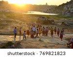 hampi  rajasthan  india  ... | Shutterstock . vector #769821823