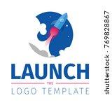 start up rocket logo template | Shutterstock .eps vector #769828867