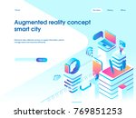 augmented reality concept.... | Shutterstock .eps vector #769851253