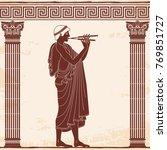 vector vintage greek national... | Shutterstock .eps vector #769851727