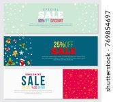 christmas style banner design... | Shutterstock .eps vector #769854697