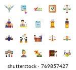 politics icon set | Shutterstock .eps vector #769857427