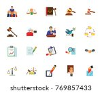 politics and justice icon set | Shutterstock .eps vector #769857433