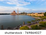 putra mosque at noon the famous ...   Shutterstock . vector #769864027