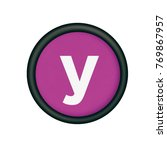 plastic button with the letter... | Shutterstock . vector #769867957