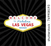 welcome to las vegas sign icon. ...   Shutterstock .eps vector #769908193