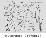 arrows circles and abstract... | Shutterstock .eps vector #769908637
