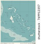 the bahamas map  vintage high... | Shutterstock .eps vector #769912357