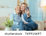 smile. positive cheerful aged... | Shutterstock . vector #769914697
