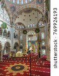 Small photo of ISTANBUL, TURKEY: Interior of Kilic Ali Pasa Mosque at Tophane. Kilic Ali Pasa Mosque was built at Ottoman period in Turkey by Mimar Sinan. October 5, 2017