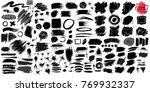 big collection of black paint ... | Shutterstock .eps vector #769932337