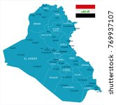 iraq map and flag   high... | Shutterstock .eps vector #769937107