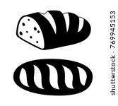 loaf black beautiful | Shutterstock .eps vector #769945153