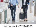 two passenger  walking in... | Shutterstock . vector #769949323