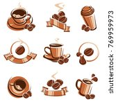 coffee labels and icons set.... | Shutterstock .eps vector #769959973