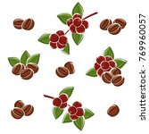coffee beans set. vector | Shutterstock .eps vector #769960057