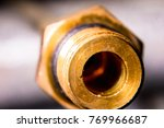 brass nut with industry. | Shutterstock . vector #769966687
