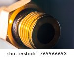 brass nut with industry. | Shutterstock . vector #769966693