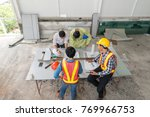engineer group asia and worker... | Shutterstock . vector #769966753