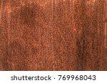 dirty rusty metal texture ... | Shutterstock . vector #769968043