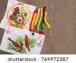 embroidery on canvas....   Shutterstock . vector #769972387
