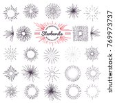 collection of trendy hand drawn ... | Shutterstock . vector #769973737