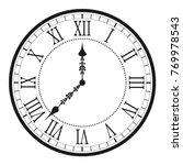 Vintage Clock With Roman...
