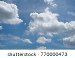 blue sky with white clouds at... | Shutterstock . vector #770000473