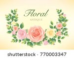 rose love card.illustration... | Shutterstock .eps vector #770003347