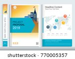 project proposal template with... | Shutterstock .eps vector #770005357