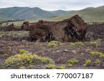 Small photo of Volcanic landscape along the North Crater Flow Trail at Craters of the Moon National Monument and Preserve, Arco, Idaho