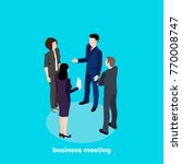 business meeting  people in... | Shutterstock .eps vector #770008747