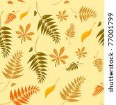 seamless autumn leaves... | Shutterstock .eps vector #77001799
