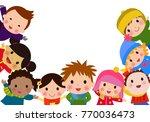 group of children | Shutterstock .eps vector #770036473