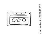 dotted shape old cassette retro ... | Shutterstock .eps vector #770042293
