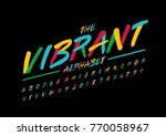 vector of stylized brushy font... | Shutterstock .eps vector #770058967