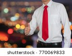 businessman give a thumbs up... | Shutterstock . vector #770069833