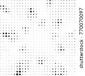 grunge halftone black and white ... | Shutterstock .eps vector #770070097