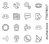 thin line icon set   pointer ... | Shutterstock .eps vector #770078017