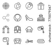 thin line icon set   target ... | Shutterstock .eps vector #770079367