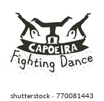 capoeira fighting dance. banner ... | Shutterstock .eps vector #770081443