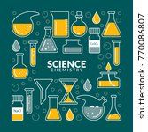 vector icons on a theme science.... | Shutterstock .eps vector #770086807