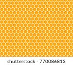 seamless honeycomb background... | Shutterstock .eps vector #770086813