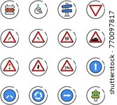 line vector icon set   sign... | Shutterstock .eps vector #770097817