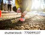 close up of sporty active slim... | Shutterstock . vector #770099137