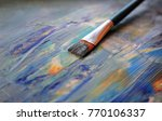 closeup background of brush and ... | Shutterstock . vector #770106337