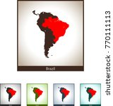 map of brazil | Shutterstock .eps vector #770111113