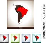 map of brazil | Shutterstock .eps vector #770111113